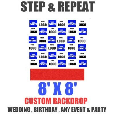 photo booth backdrop Step and Repeat EVENT Banner 8' x 8' Feet Telescopic stand