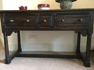 Georgian dark oak side table/hall table c1790