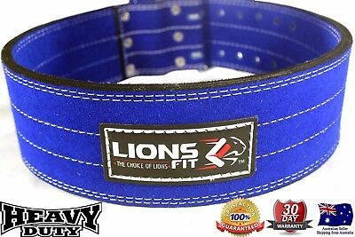 Lions Fit Genuine Leather Power Belt Heavy Duty Weight Lifting Bodybuilding Belt
