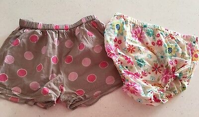 2 X Cute Baby Girls Shorts. Pumpkin Patch & Floral. Size 1. Collect Or Post
