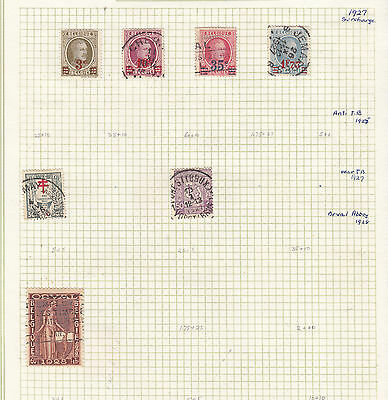 BELGUIM 1927-8 Collection On Old Album Page AS PER SCAN..