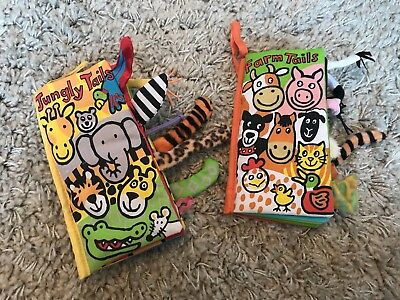 Jellycat Farm Tails and Jungly Tails Soft Books - Brand New