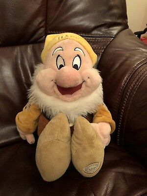 Disney's Happy Dwarf Soft Toy from Snow White Official Product