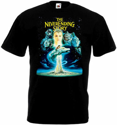 THE NEVERENDING STORY Movie Poster T shirt black all sizes