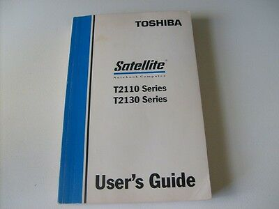 Toshiba Satellite Notebook Users Guide - T2110, T2130 Series - 328 pages