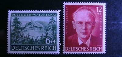 GERMANY Third Reich 1943 Birth Centenary of Peter Rosegger Complete Set  MNH