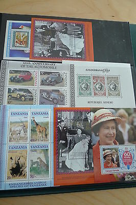 Commonwealth Beautiful Collection  65 Different Mnh Souvenir Sheets + 10 Extra