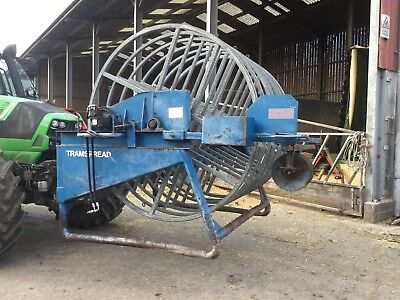 Tramspread Slurry pipe reeler front mounted umbilical
