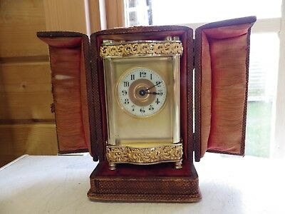 French Carriage Clock Rare Case Style In The Original Box Fully Restored 1900/20