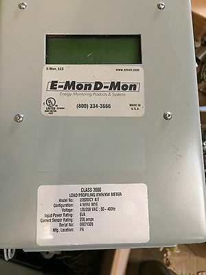 E mon Dmon class 3000 208200cy KIT sub meter with 200 amp ct's