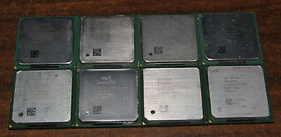 Vintage Lot of 8 socket 478 Processors, Pentium 4