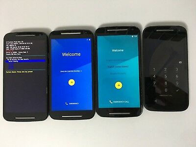 Wholesale Lot of 4 Motorola: Moto E and G 2nd Gen. (Consumer Cellular)