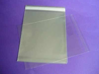 500 x 8  x 10. Clear Cellophane Display Bags For Greeting Cards, Self Seal,