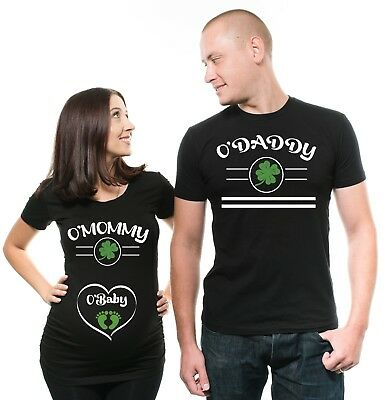 St Patricks day Pregnancy announcement Maternity Tshirts Couple Pregnancy Shirts