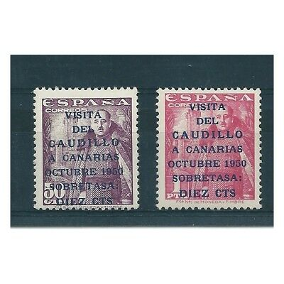 1950 Spain Spain Visit General Franco At The Canary Islands 2 V Mnh Mf16129