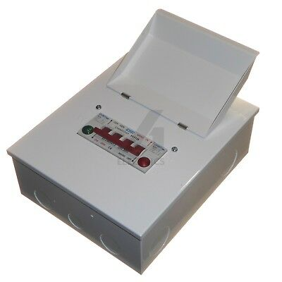 125 Amp Changeover Switch 240V Mains Generator Metal with Red & Green Indicators