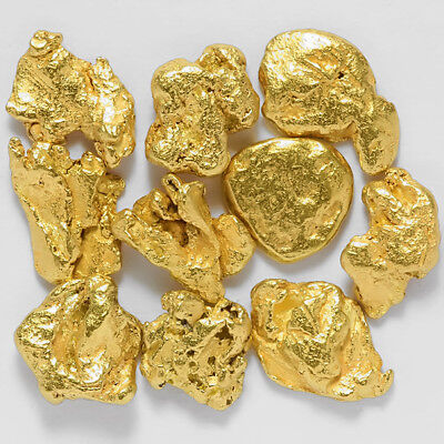 10 pcs Alaska Natural Placer Gold - Alaskan Gold - TVs Gold Rush (#G637-1)