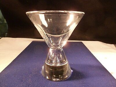 New Steuben Lead Crystal Teardrop Cocktail Martini Glass Mid Century Modern 7826