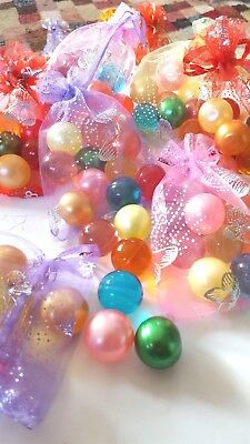BATH OIL PEARL BEADS IN ORGANZA GIFT BAG x 10 Round