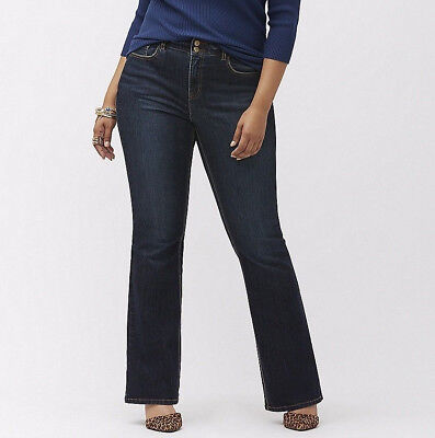 Lane Bryant Jeans Bootcut T3 Tighter Tummy Technology Stretch Size 16 Petite NWT