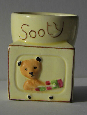 SOOTY 1950s EGG CUP by Keele St. Pottery Co.Ltd, excellent condition, TV Design!