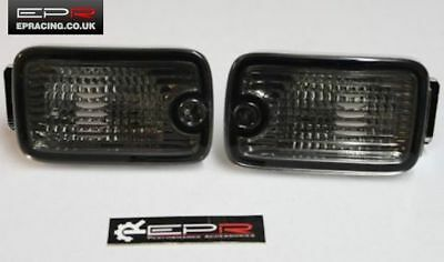 Kouki Late Model Square Smoked Bumper Indicator for Nissan 180sx S13 RPS13