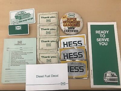 Lot Of Hess Gasoline Items