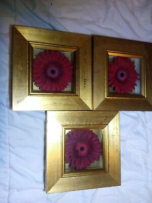 x3 wall art frames - flowers