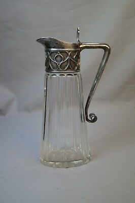 Antique Peter Karl Faberge 84 Silver Glass Wine Claret Jug as-is Moscow