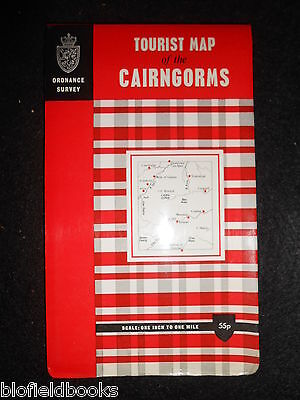 "VINTAGE ORDNANCE SURVEY SCOTLAND 1"" MAP - The Cairngorms Tourist Map c1972"