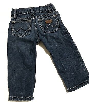 Wrangler Baby-Boys Newborn Infant Five Pocket Styling Jean, Denim, 18 Months