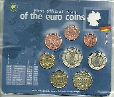 Deutschland 2002 *Euro KMS 2002 F * 1cent-2euro 2002 * First Official Issue
