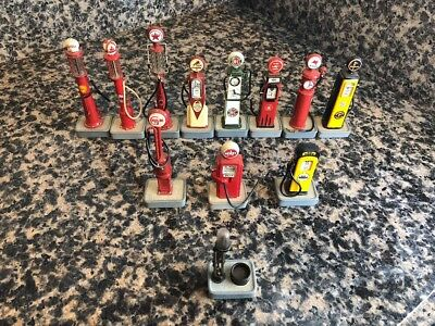 12 Danbury Mint 1/24 Gas Pumps 1906 - 1951 LOOK AT LISTING FOR DETAILS