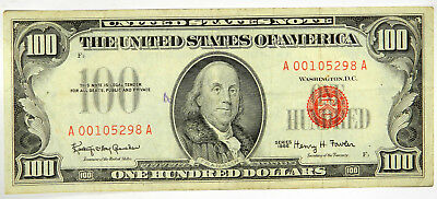 """1966 $100 Us Note ~ Solid Vf With Small Ink """"8""""  ~  Priced Right! (Inv#298)"""