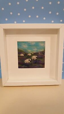 Needle felted picture. Landscape