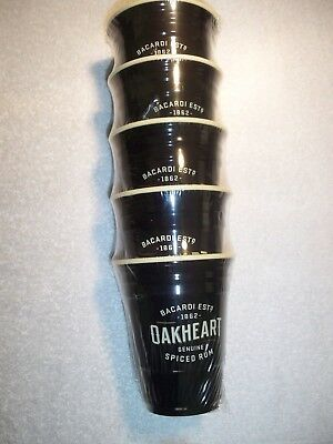 Bacardi Collectable Oakheart 16 0Z Hard Platic Cups! Full Case Of 100 Cups! New!