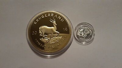 2016 1oz Gold South Africa Krugerrand. EP.and x1 999 silver 1 gram panda coin;,