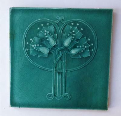 Antique Art Nouveau/arts & Crafts Tile-Scottish School Design? T R Boote