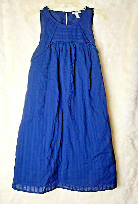 NWT Liz Lange Maternity dress Small sleeveless dark shadow blue eyelet D2