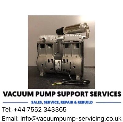 Vacuum Pump-NEW-Twin Piston-Oil Free-230v-Rietschle Thomas Lab-Edwards Knf- £450