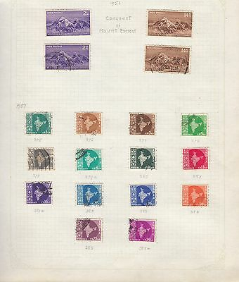 INDIA Collection on Old Album Page stamps removed for shipping(ad)
