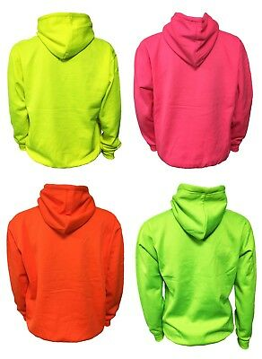 WOMENS GREAT FOR WINTER NEON COLOURS MENS SUPERBRIGHT HOODIE JH013 LADIES