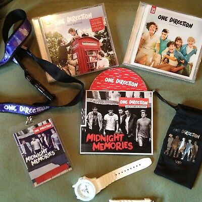 One Direction Collection / VIP Pouch, 3 CD's, Midnight Memories Lanyard & Watch