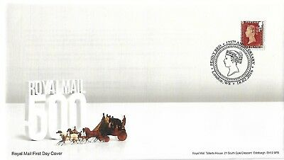 Gb 2016 Penny Red Self Adhesive From Booklet Fdc With Special Postmark