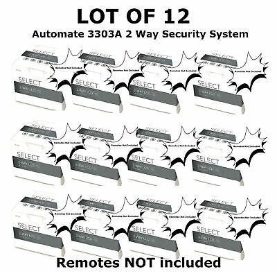 LOT OF 12 Automate 2 Way Car Security Alarm System New 3303A 3303AC NO REMOTES