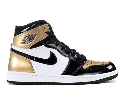 NEW DS 2018 Air Jordan Retro 1 High OG NRG Gold Toe Black 861428-007