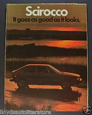 1978 Volkswagen Scirocco Sales Brochure Folder US Market Nice Original 78 VW