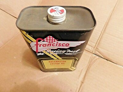 Vintage Nos Francisco Racing Fuel Racemaster Castor Oil One Quart Can Outboard