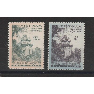 1960 Vietnam Del Nord Temple By Hung - Vuong 2 Val New Mf51012