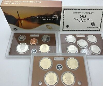 United States 2013 Mint Proof 14 coins Quarters & Presidents set USA KMS